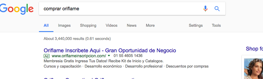 ejemplo google adwords multnivel